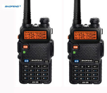 HOT 2 pcs ptt uv-5r baofeng headset ht radio hf vhf marine cb radio mobile Portable two way digital 1 pair walkie-talkie uv 5r(China)