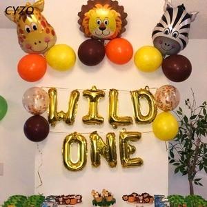 Baby Shower животных шарики для день рождения джунгли вечерние для вечеринки в стиле сафари игр тема джунгли вечерние шт/уп, Свадебная вечеринка, детский воздушные шары на день