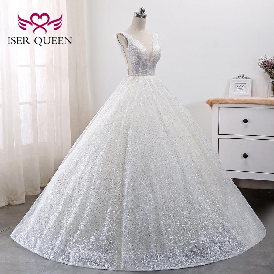 2019 New Arrival Crystal Beading Arab Dubai Quality Wedding Dress Sleeveless Plus Size Pattern Lace Wedding Dresses WX0009