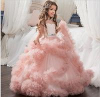 Vestidos De First Communion Sleeveless Ruffles Flower Girl Dress Little Princess First Communion Dress Wedding