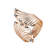 Angel Wings Bracelet Adjustable Woman Riding Bike Jewelry Gifts Open Bracelet Crystal Wholesale Spacecraft(China)