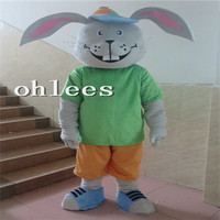 Ohlees in store green Bunny rabbit Mascot Costume Halloween Christmas party Props Costumes For Adult cartoon animal customize