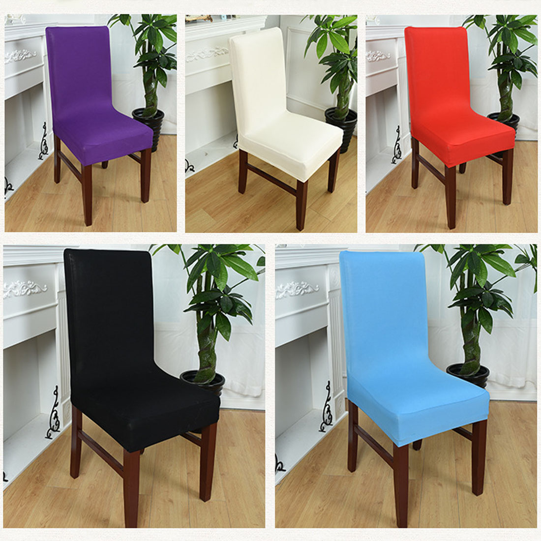 Chair Covers Dining Spandex Strech Dining Room Chair Covers Computer Chair Protector Slipcover Decor Housse De Chaise
