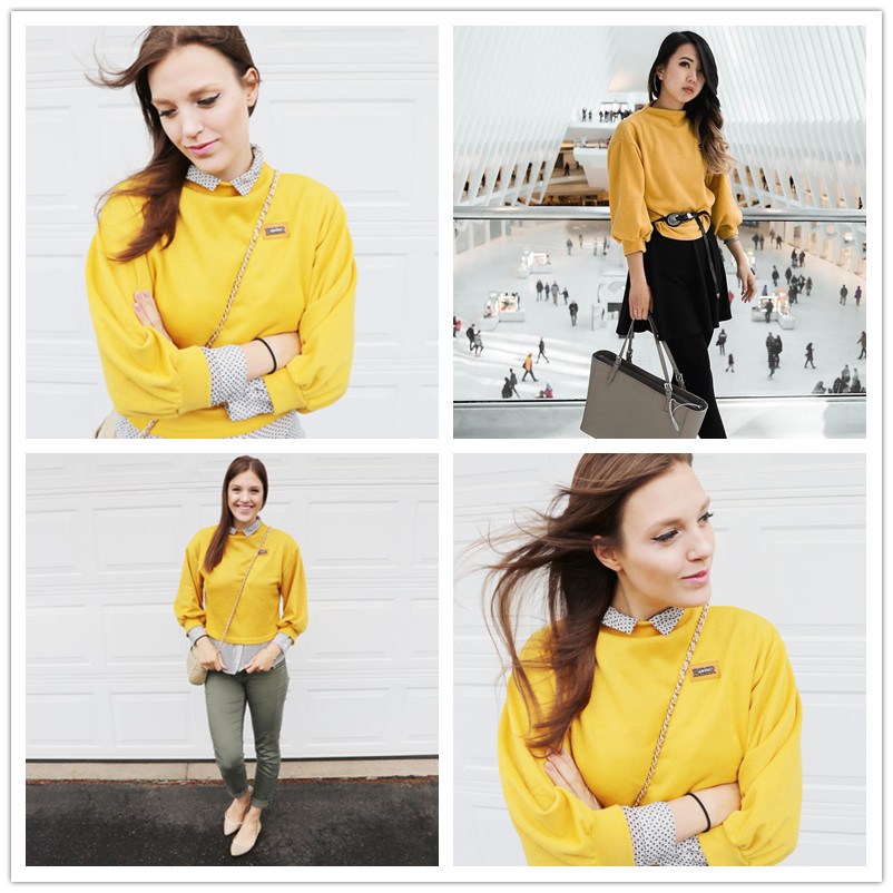 HTB16IsdSpXXXXbyaXXXq6xXFXXX8 - Funnel Neck Sleeve Lighthouse Patch Sweat Shirt Autumn Yellow Jerseys Ladies' Neck Long Shirts JKP014