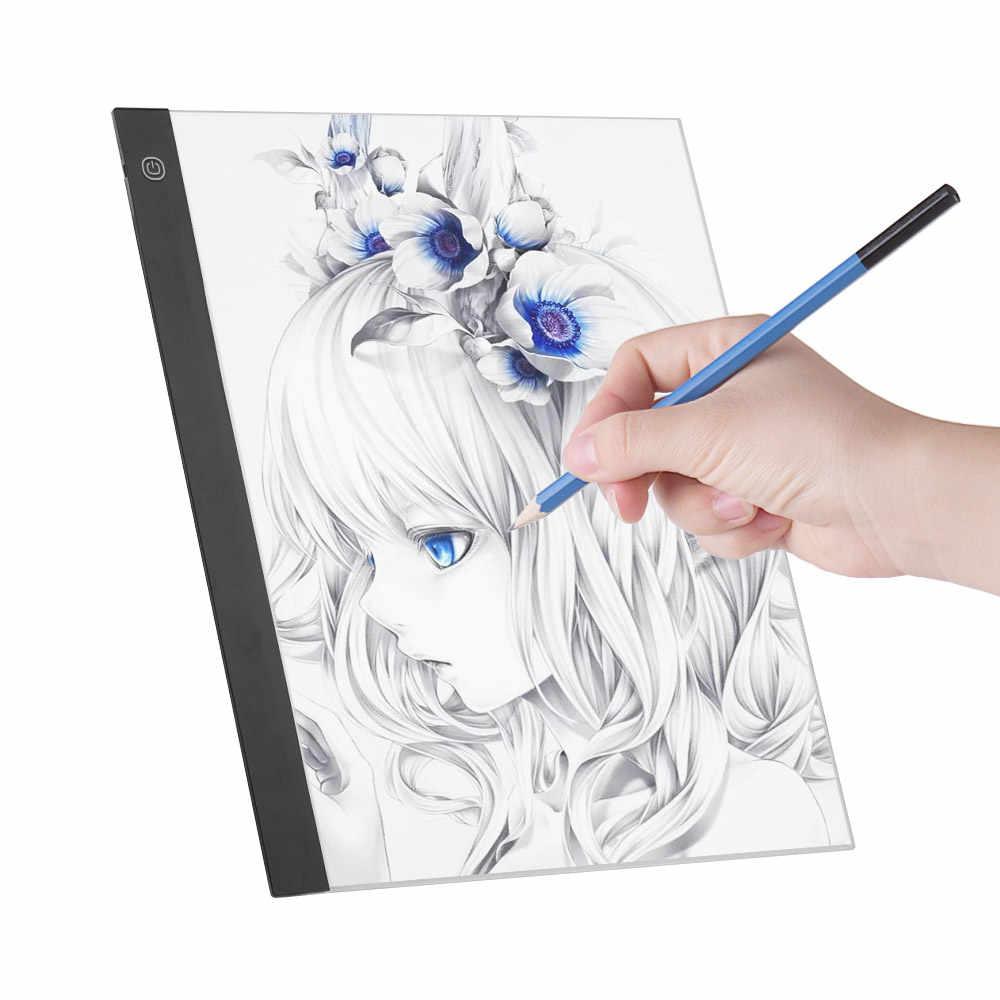 A3 HA CONDOTTO LA Luce Pad Artcraft Light Box Tracing Copia Bordo Tavolette Digitali Pittura 3-livello di Luminosità Dimmerabile per il Tracciamento la copia