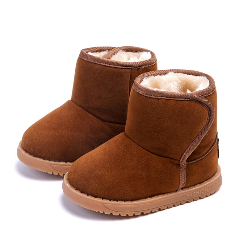 Winter Girls Snow Boots Thicker Warm Plush Boots For Children Brand Kinder Snow Boots Comfortable Girl Baby Toddler Boots Mother & Kids