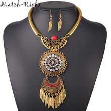 Women Necklace Vintage Statement Necklaces Pendants Bohemia Jewelry Leaves Necklace Women Accessories for Gift Party NL582