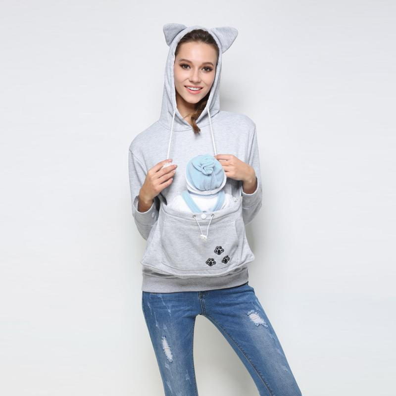 Autumn Kangaroo Pet Dog Cat Holder Carrier Coat Pouch Large - Hoodie with kangaroo pouch is the perfect cat accessory