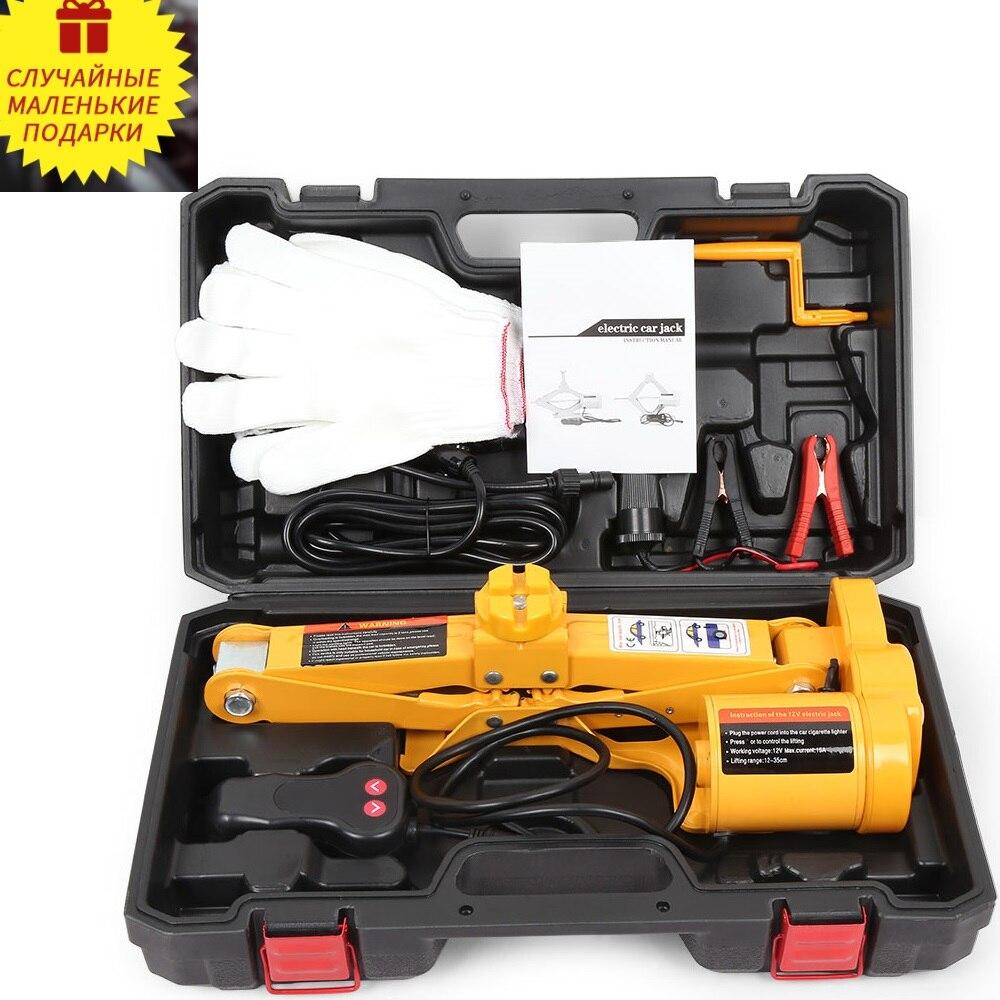 12 V voiture Jack ascenseur multifonctionnel Auto électrique hydraulique Kit d'outils de réparation de pneus puissant et stable outils de réparation de levage automatique