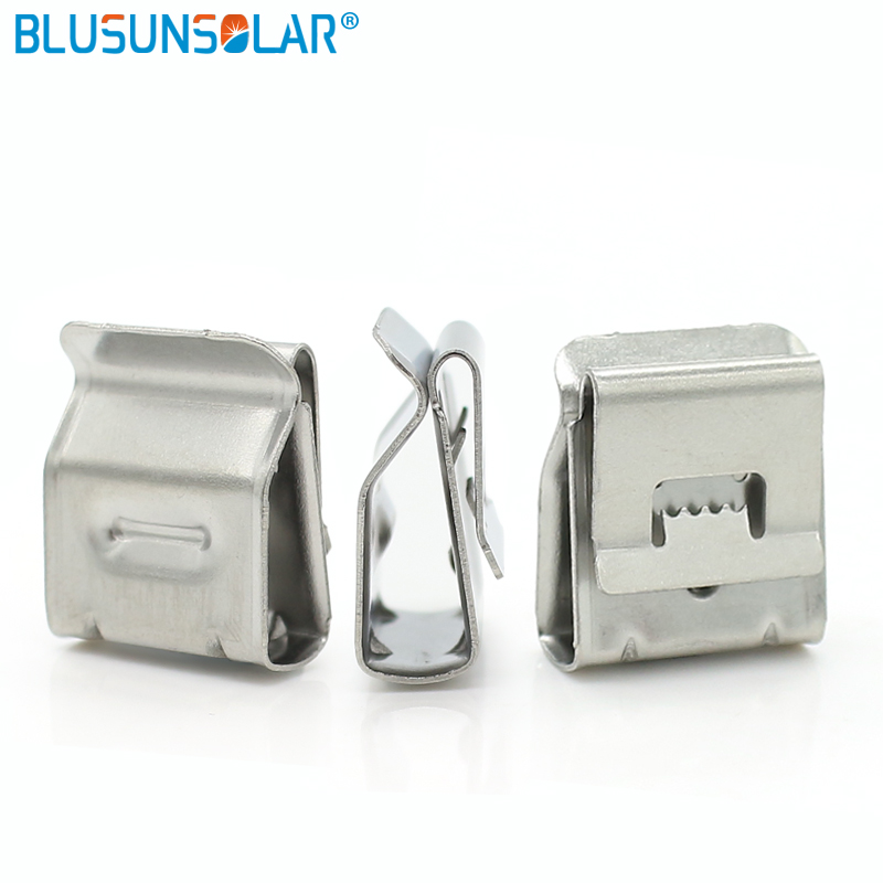 1000pcs/lots quality 304 solar PV cable clips,very tight for cable to stick panel