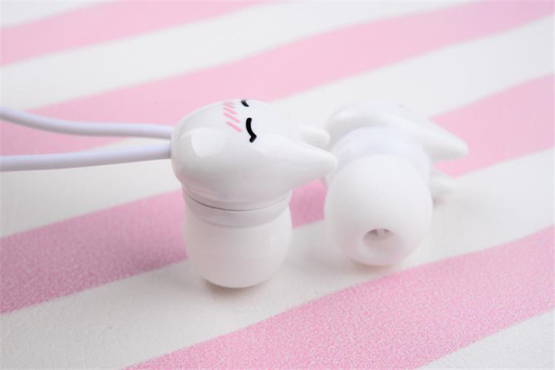 Chiclits Earphone Cute cartoon cat 3.5 mm stereo with mic In-ear headset for iPhone Xiaomi Girls Kids student for Mp3 Mp4 gifts (4)
