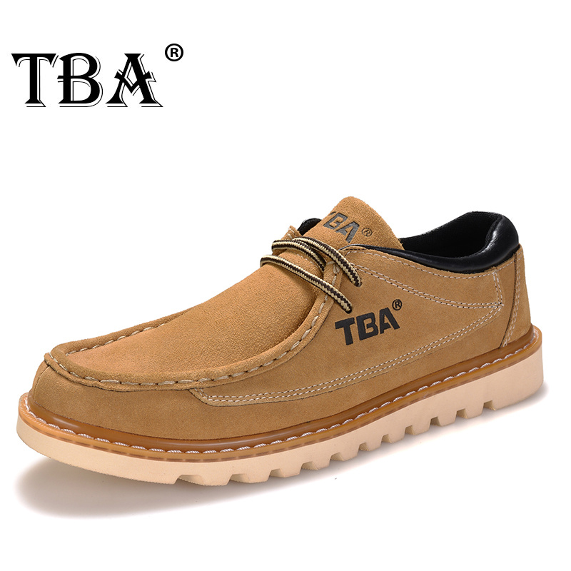TBA men hiking shoes Martin boots Breathable Shoes For winter Lace Up Rubber Sole Non slip