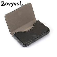 ZOVYVOL 2019 PU Leather  Business Credit Card Holder Fashion CaseMagnet Name Large Capacity Classic Box