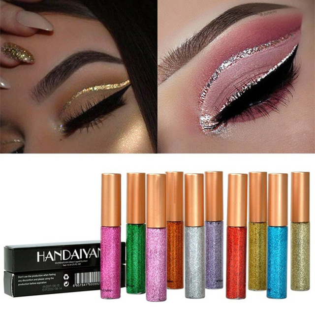 Fashion week How to gold wear glitter eyeliner for lady