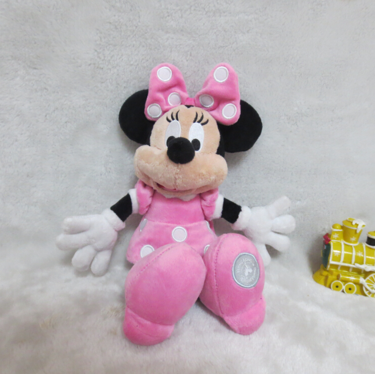 Pink Minnie Mouse Stuffed Animals Plush Toys 25cm,High Quality