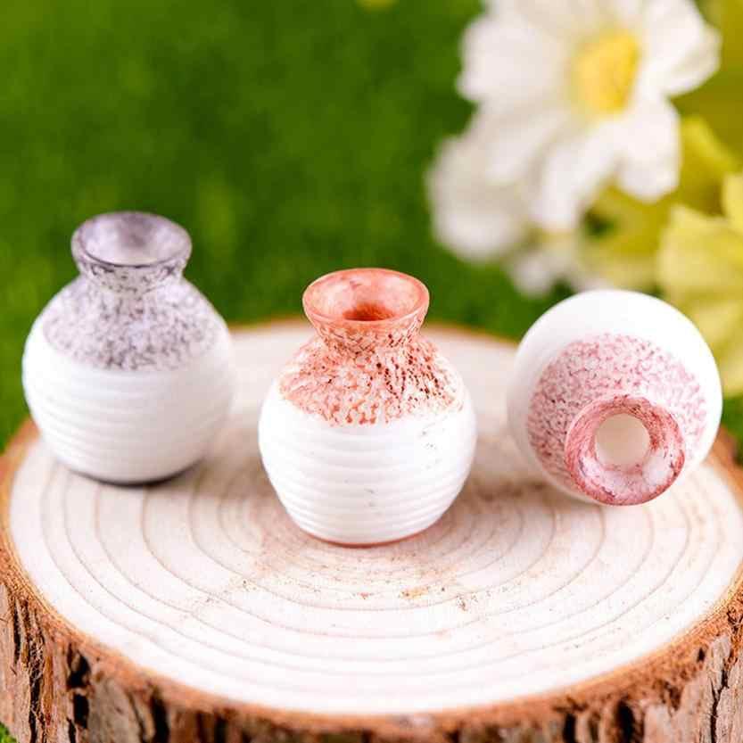Figurine Resin Miniature Vintage Home Decor Small Mouth Vase DIY Craft    Home Decoration Accessories 17DEC19