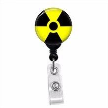 Radioaktive Symbol Zombie Radiologie ID Karte Name Tag Versenkbare Abzeichen Reel Lanyard Abzeichen Halter mit swivel clip