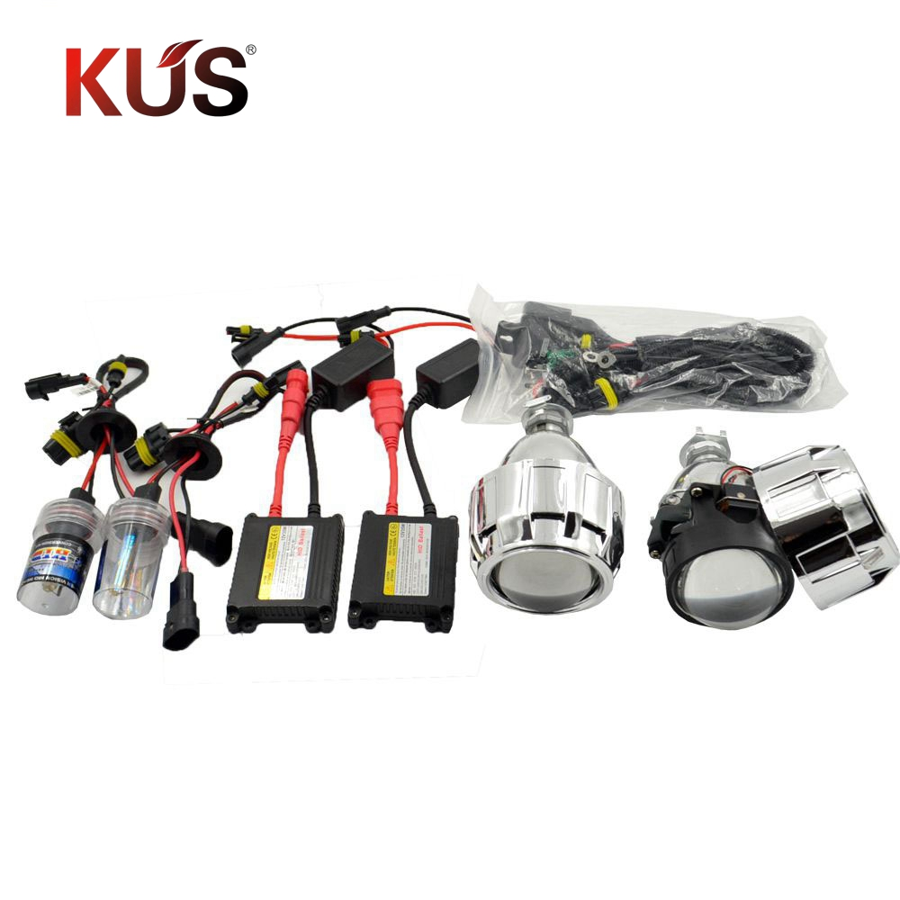 2 pcs 2.5 polegada bixenon lente Do Projetor hid kit xenon lâmpada lastro ac kit de montagem de automóveis para H1 H4 H7 modelo de carro Modificar frete grátis