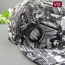 Anime One Piece 6 Style Adjustable Size Cartoon Fashion Hip hop Baseball Hats & Caps