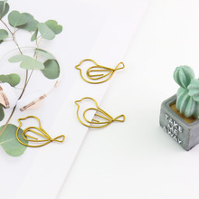 TUTU MIX Color Paper Clips Student Stationery Large Metal Clip CUTE Office Accessories BOOKMARK 16Pcs/lot H0083