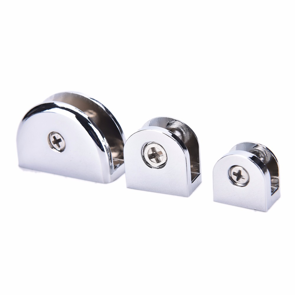 2Pcs High Quality Stainless Steel Glass Clips Adjustable Wall Mounted Glass Shelf Clamp Bracket 6-8mm Glass Holder With Screw