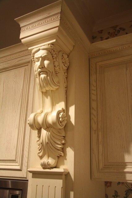 100% personalizada muebles de cocina de madera con elegante columna ...