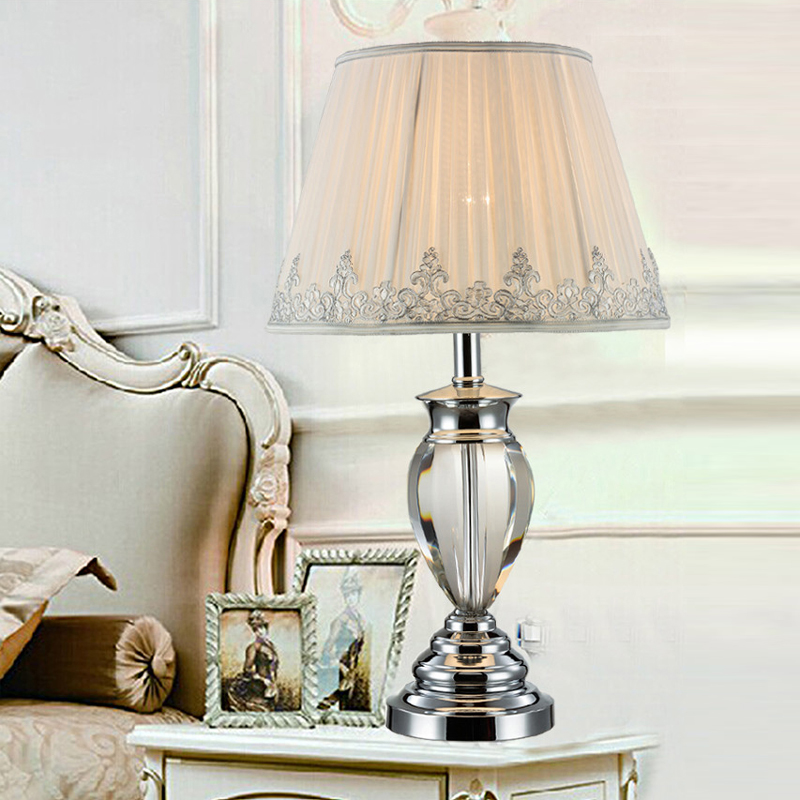 white table lamp modern bedside tables crystal lighting study room ...