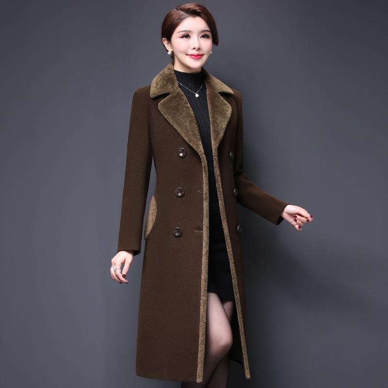 d57049f47262d Nouveau Veste Manteaux De Femmes 1 Femme Printemps D hiver pourpre Velours  Laine Plus Long Et Automne 2019 Violet Manteau ...