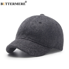 BUTTERMERE Baseball Cap Men Wool Winter Spring Stylish Black Peaked Caps Adjustable Vintage British Casual Baseball Hats And Cap stylish golden praying hands shape embellished men s baseball cap