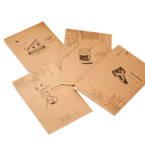 Image 1 - 40 Stks/partij Vintage Piano Viool Drinken Kleine Notebook Papieren Boek Dagboek Notebook Briefpapier Kinderen Geschenken