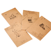 40pcs/lot Vintage Piano Violin Drink  Small Notebook Paper Book Diary Notebook  Stationery Childrens gifts