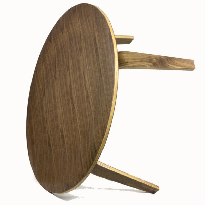 Mesa redonda de contrachapado Mesa de centro de madera de nogal DIA86 - Mueble - foto 6