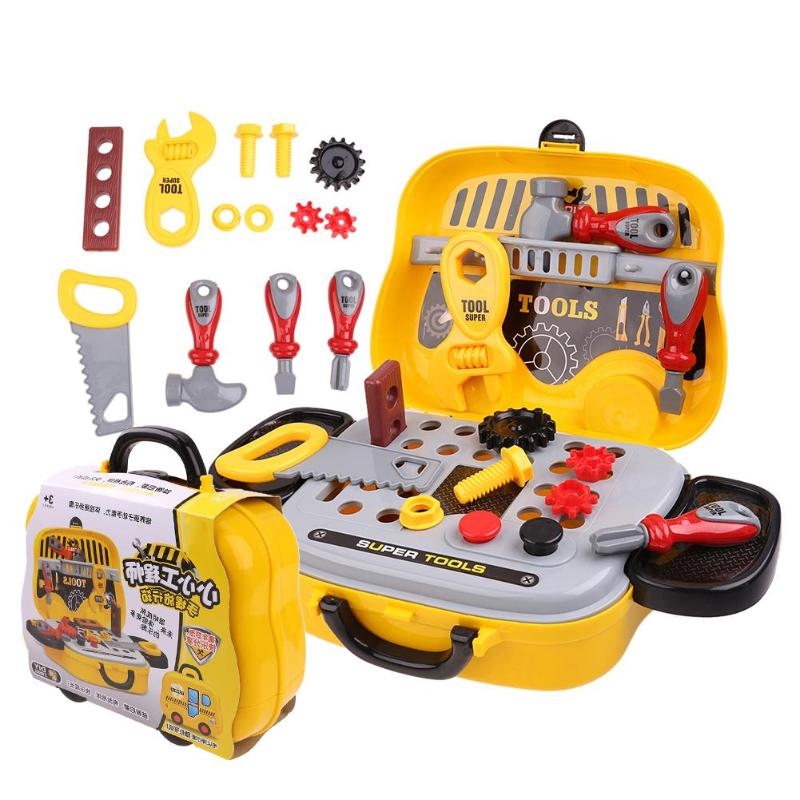Children Simulation Repair Tool Set Plastic Pretend Play Toys Early Learning Education toys Creative Toy For Kids Birthday Gift 32pcs set repair tools toy children builders plastic fancy party costume accessories set kids pretend play classic toys gift