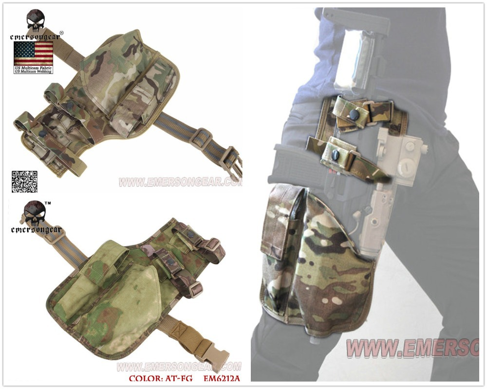 EMERSON Army Military Equipment Airsoft Paintball Shooting Rifle Holster Combat Tactical MP7 Leg Holster Multicam MC