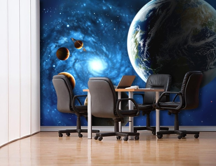 Buy 3d outer space universe non woven for Decoration 3d sol