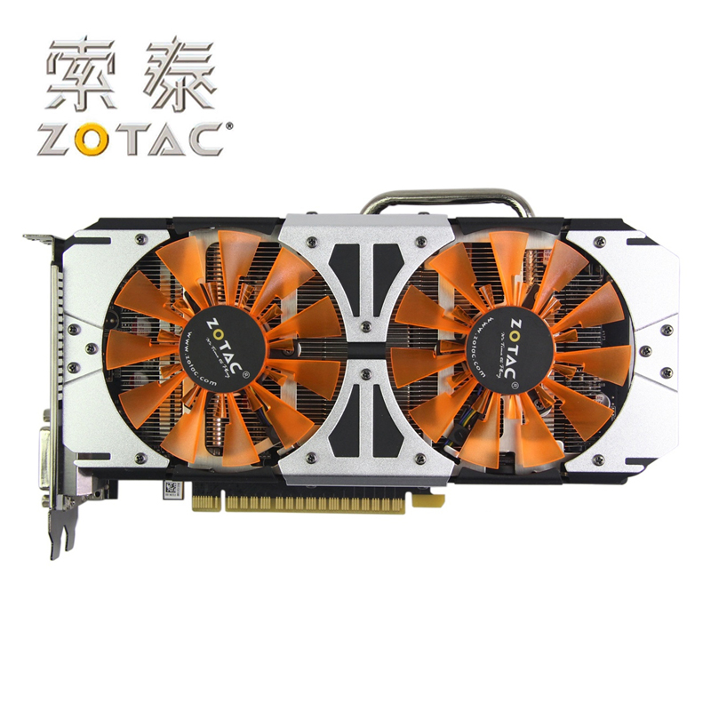 Carte graphique d'origine ZOTAC GPU GTX750Ti-2GD5 Thunderbolt HA 128Bit GDDR5 carte graphique pour nVIDIA GeForce GTX750 Ti 750Ti 2G
