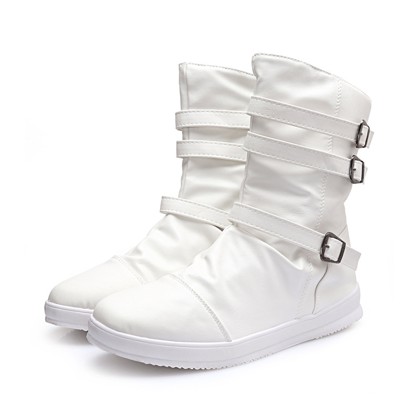 Aliexpress.com : Buy 2015 Winter White Black Boots Men England ...