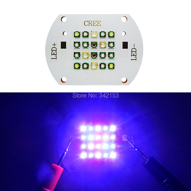 60W Cree + Epileds Coral Led Emitter Light 450nm Royal Blue 470nm Blue 10000K Cool White 620nm Red 420nm UV Fish Tank Led Light