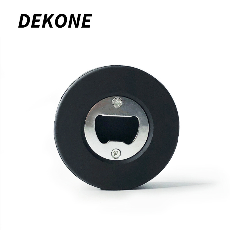 Hockey Puck Bear Bottle Opener Portable Opening Natural Rubber Icehockey Puck Multi functional Ice Hockey Accessories