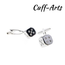 Cufflinks for Men Crystal Dice Mens Cuff Jewelery Gifts Vintage by Cuffarts C10314