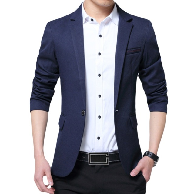 YUNCLOS EU Size New Men's Blazer Casual Slim Fit Jackets Solid Color Business Wedding Party Men Blazer Jackets blazer masculino