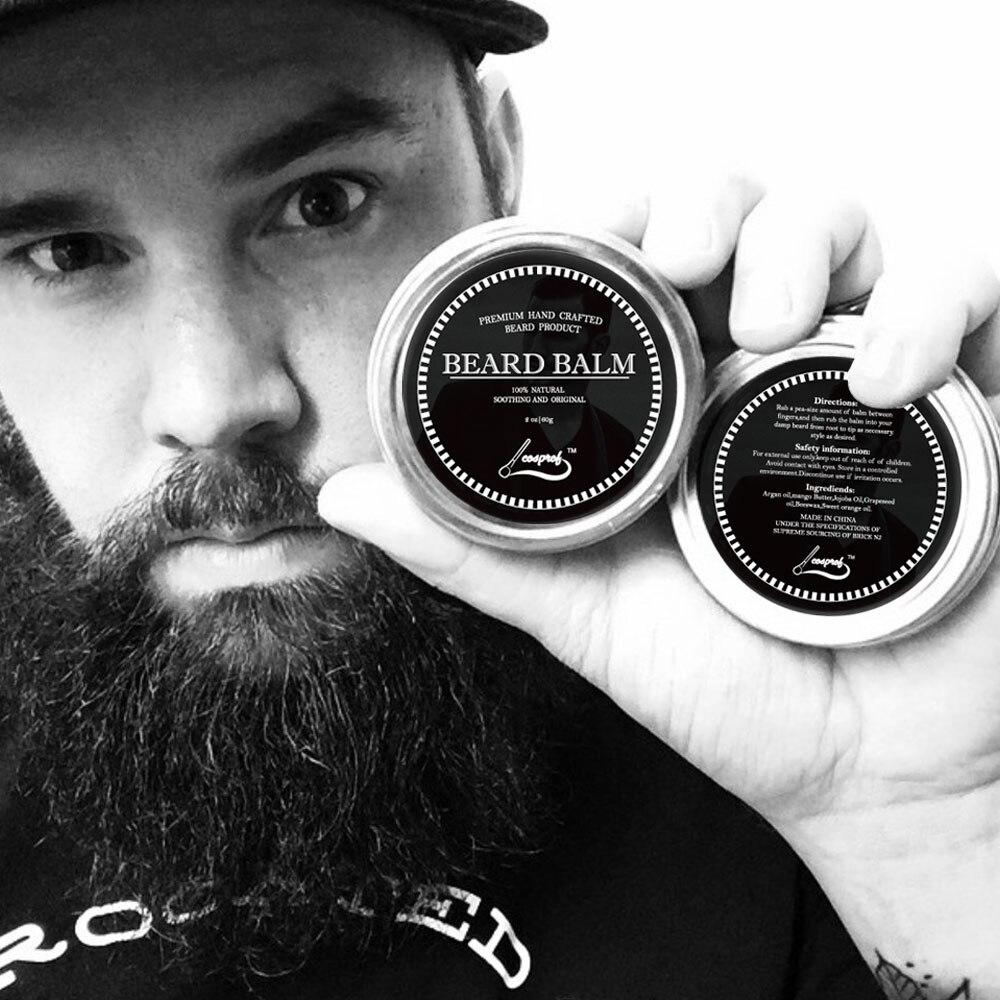 60g 100 Natural font b Beard b font Balm Moustache Growth Product Cream font b Beard
