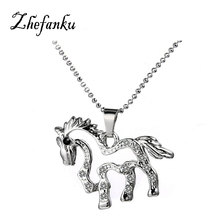 Charming Jewelry Accessories Korean Version HORSE Shaped Pendant Necklace Drop Shipping