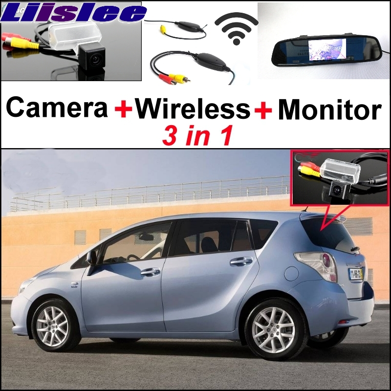 Liislee 3 in1 Special Camera + Wireless Receiver + Mirror Monitor Easy DIY Back Up Parking System For TOYOTA Verso EZ цена