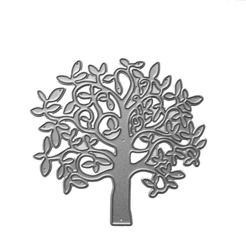 Tree Metal Cutting Dies Stencil DIY Scrapbooking Album Stamp Paper Card Embossing Craft Decoration