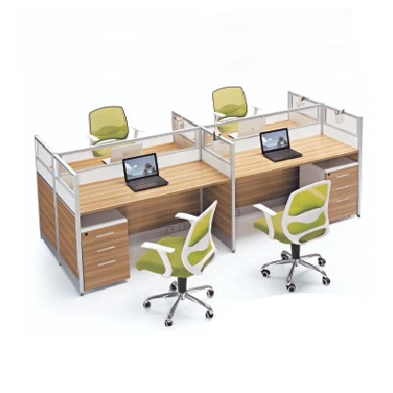 Office Table For 4 Person: Office Furniture Office Screen Staff Card Bit Computer