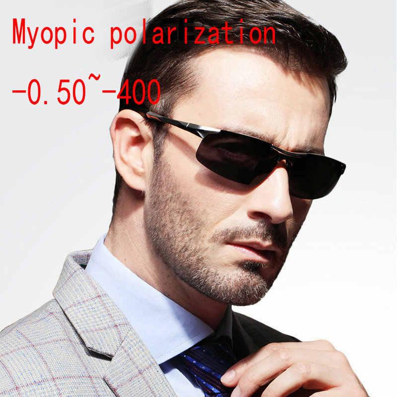 48c03544ed Aluminum magnesium Custom Made Myopia Minus Prescription Polarized Lens  Sport Polarized Sunglasses black Anti-wind