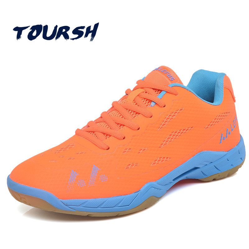 TOURSH Court Shoes Men Women Badminton Shoes Professional Shoes Couple Shoes Breathable Anti-Slippery Light Sneakers Sports