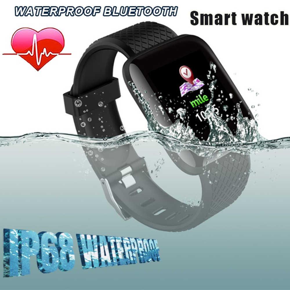 Binssaw Baru Smart Watch Pria Wanita Monitor Detak Jantung Tekanan Darah Kebugaran Tracker Smartwatch Sport Jam Tangan untuk IOS Android Telepon
