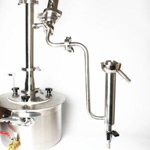 Image 5 - قياس مستمر الكحول الفولاذ المقاوم للصدأ 304 ثلاثي المشبك الببغاء اتصال للتقطير